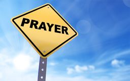 Modlitwa znak obrazy stock