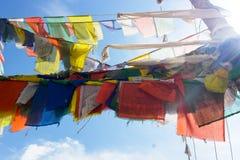 Modlitwy flaga w monasterze Obrazy Stock