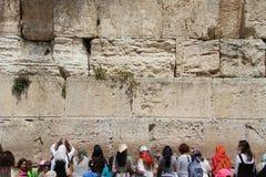 Modlitwy przy western ścianą, Jerozolima Zdjęcia Royalty Free