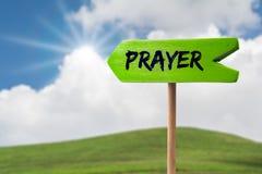 Modlitwy strzała szyldowy znak obraz stock