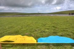 Modlitwy tybetańska Flaga Zdjęcia Royalty Free