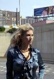 Modna blond kobieta Zdjęcie Royalty Free