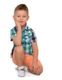 Modna blondynki chłopiec Fotografia Stock