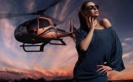 modna dama obrazy royalty free
