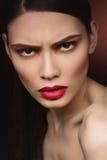 Modna gniewna dziewczyna Zdjęcia Stock