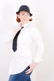 modna kapeluszowa kobieta Fotografia Stock