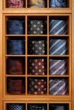 Modna kolekcja staczający się krawaty Fotografia Stock