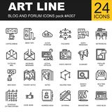 Modna kreskowa ikony paczka dla projektantów i przedsiębiorców budowlanych Fotografia Stock