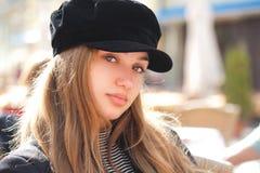 Modna młoda brunetka fotografia stock