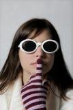 modna okulary przeciwsłoneczne kobieta Obraz Stock