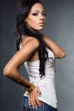 modna oliwkowa kobieta Obrazy Royalty Free