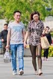 Modna para w robić zakupy teren, Pekin, Chiny Obraz Stock