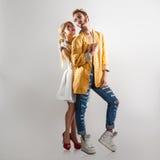 modna pary miłość Oba z fachowym makeup obrazy royalty free