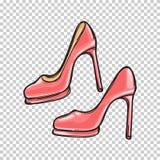 Modna Różowa Stilletos ilustracja Fotografia Royalty Free