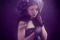 Modna smutna kobieta Fotografia Stock