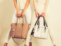 Modne dziewczyny z toreb torebkami Obrazy Stock