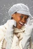 modnego knitwear pracowniana target752_0_ kobieta zdjęcia stock
