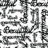 Modnej mody teksta projekta piękny wzór zdjęcia stock