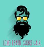 modniś Długa broda Ilustracja Wektor