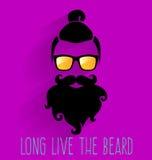 modniś Długo Żyje brodę Royalty Ilustracja