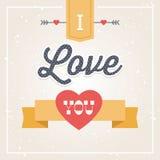 Modniś karta Kocham Ciebie Zdjęcie Royalty Free