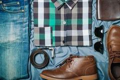 Modniś odzieżowy i akcesoria Zdjęcia Stock