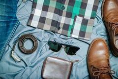 Modniś odzieżowy i akcesoria Zdjęcie Royalty Free