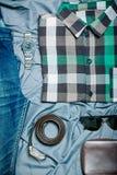 Modniś odzieżowy i akcesoria Fotografia Stock