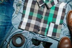 Modniś odzieżowy i akcesoria Obraz Stock