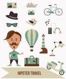 Modniś podróży set ilustracji