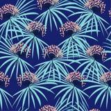 Modni bezszwowi wektorowi lato wzoru dzikich kwiatów tła wi Obraz Royalty Free