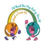 Modni Eleganccy hełmofony na Głośnej Tomowej Hałaśliwie walce Zdjęcie Royalty Free