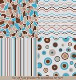 Modni Kolorowi Bezszwowi wzory, kolekcja Obrazy Stock