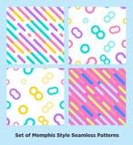 Modniś mody Memphis Stylowy Geometryczny wzór Zdjęcia Royalty Free