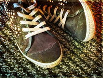 Modni nastoletni buty Zdjęcie Stock