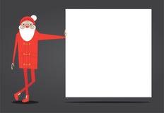 Modniś Santa opiera na sztandarze Obrazy Royalty Free