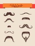 Modnisiów elementów wąsy ustawiają EPS10 kartotekę. ilustracja wektor