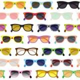 Modnisiów okularów przeciwsłonecznych tło Obraz Royalty Free