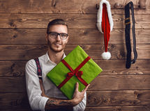 Modnisiów potomstwa Święty Mikołaj fotografia stock