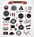 Modnisiów stylowi elementy, ikony i etykietki, Obrazy Royalty Free