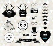 Modnisiów stylowi elementy, ikony i etykietki, royalty ilustracja