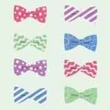 Modnisia łęku krawatów wektoru ilustracja Zdjęcie Royalty Free