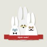 Modnisia Easter kartka z pozdrowieniami Zdjęcia Stock