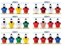 Modnisia futbol 2016 ikony Ilustracji