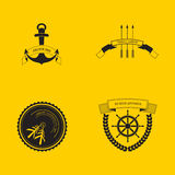 Modnisia loga ustalona strzałkowata grubiańska kotwica zdjęcie royalty free