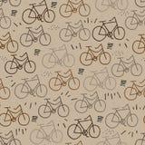 Modnisia rowerowy bezszwowy wzór royalty ilustracja