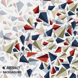 Modny abstrakcjonistyczny wektor trójboki trend Zdjęcia Royalty Free