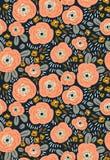 Modny bezszwowy kwiecisty ditsy wzór Tkanina projekt z prostymi kwiatami tło bezszwowy wektora Obrazy Royalty Free