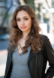 Modny brunetki piękno fotografia royalty free