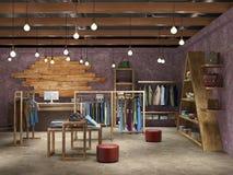 modny butika wnętrze Obraz Royalty Free